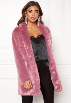 BUBBLEROOM Luxure faux fur coat Dusty pink Bubbleroom.eu