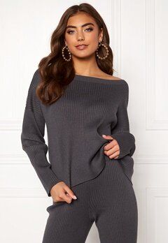 BUBBLEROOM Marah knitted sweater Grey Bubbleroom.eu