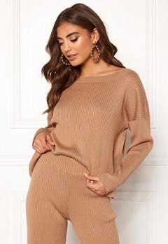 BUBBLEROOM Marah knitted sweater Camel Bubbleroom.eu