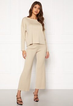 BUBBLEROOM Marah knitted trousers Light beige Bubbleroom.eu