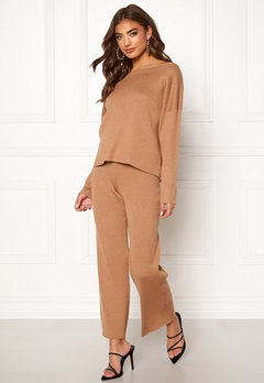 BUBBLEROOM Marah knitted trousers Camel Bubbleroom.eu