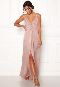 BUBBLEROOM Marianna front twist gown Silver coloured / Pink Bubbleroom.eu