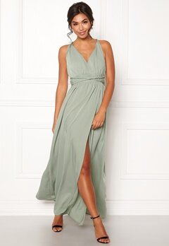 BUBBLEROOM Marianna cross back gown Dusty green Bubbleroom.eu