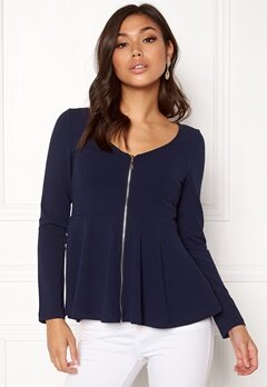 BUBBLEROOM Megan zip jacket Dark blue Bubbleroom.eu