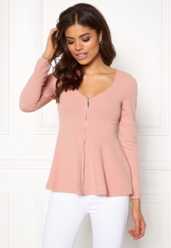 BUBBLEROOM Megan zip jacket Dusty pink Bubbleroom.eu