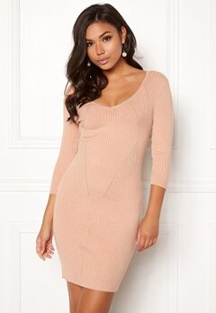 BUBBLEROOM Melia knitted dress Camel Bubbleroom.eu
