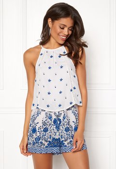 BUBBLEROOM Melinda playsuit Blue / White / Patterned Bubbleroom.eu