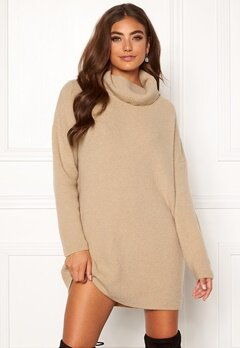 Moa Mattsson X Bubbleroom Knitted sweater dress Beige Bubbleroom.eu