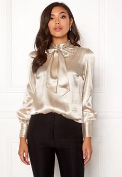 BUBBLEROOM Molly bow blouse Champagne Bubbleroom.eu