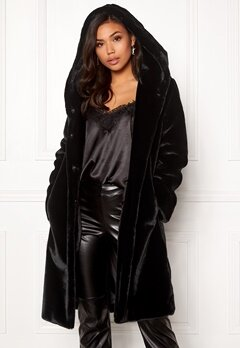 BUBBLEROOM Molly faux fur coat Black Bubbleroom.eu