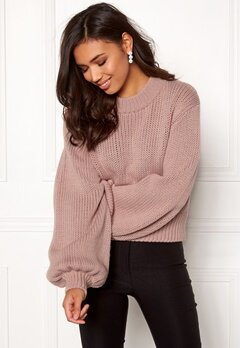 BUBBLEROOM Molly knitted sweater Dusty pink Bubbleroom.eu