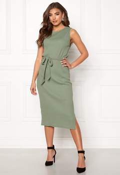 BUBBLEROOM Naima ribbed dress Green Bubbleroom.eu