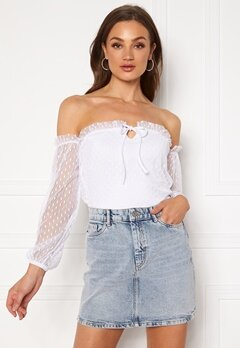 BUBBLEROOM Nilla offshoulder top White Bubbleroom.eu
