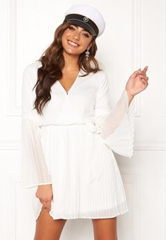 BUBBLEROOM Paulinn pleated dress White Bubbleroom.eu