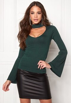 BUBBLEROOM Rouge knitted sweater Dark green Bubbleroom.eu