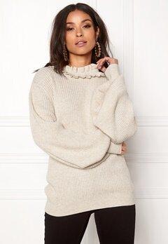 BUBBLEROOM Sally knitted sweater Beige melange Bubbleroom.eu