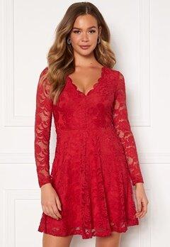 BUBBLEROOM Shione Lace Dress Red Bubbleroom.eu