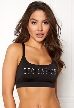 BUBBLEROOM SPORT Boobilicious sports bra Black / White / Text Bubbleroom.eu