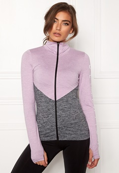 BUBBLEROOM SPORT Burpees then slurpees sport jacket Grey melange / Lilac melange Bubbleroom.eu