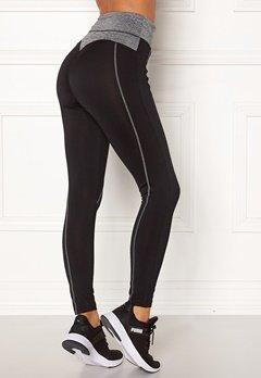 BUBBLEROOM SPORT Butt sport tights Black / Grey melange Bubbleroom.eu