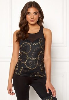 BUBBLEROOM SPORT Excite sport top Black / Patterned Bubbleroom.eu