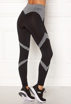 BUBBLEROOM SPORT Fierce sport tights Black / Grey melange Bubbleroom.eu