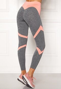 BUBBLEROOM SPORT Fierce Sport Tights Dark grey melange / Apricote Bubbleroom.eu
