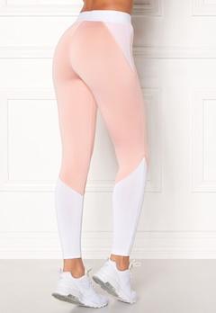 BUBBLEROOM SPORT Strongest sport tights Light pink / White Bubbleroom.eu