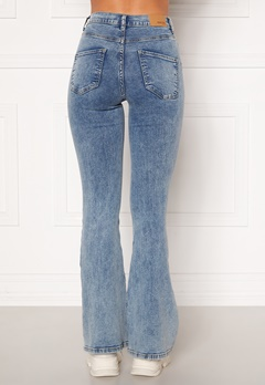 BUBBLEROOM Tove high waist flared superstretch Light denim Bubbleroom.eu