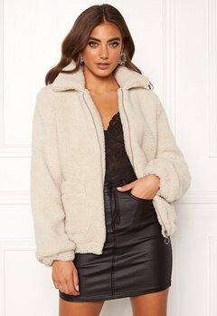 BUBBLEROOM Tove teddy jacket Light beige Bubbleroom.eu