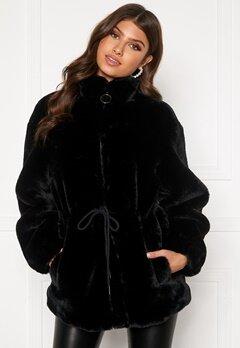 BUBBLEROOM Trixie faux fur jacket Black Bubbleroom.eu