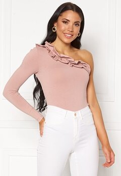 BUBBLEROOM Valerie one shoulder top Beige Bubbleroom.eu