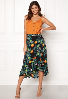 BUBBLEROOM Villima midi skirt Black / Patterned Bubbleroom.eu