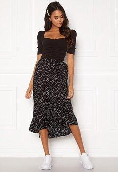 BUBBLEROOM Villima midi skirt Black / White / Dotted Bubbleroom.eu