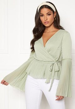 BUBBLEROOM Wenna pleated top Dusty green Bubbleroom.eu