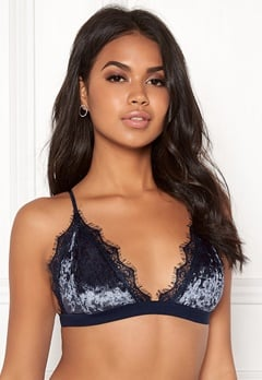 BUBBLEROOM Wilda velvet bra Dark blue Bubbleroom.eu