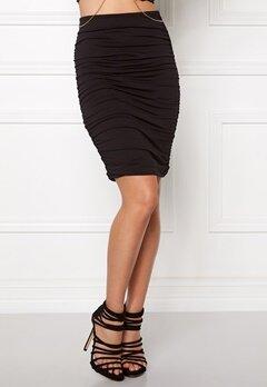 BUBBLEROOM Wrinkled skirt Black Bubbleroom.eu