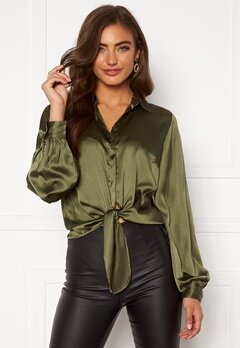 BUBBLEROOM Zamira puff sleeve shirt Green Bubbleroom.eu
