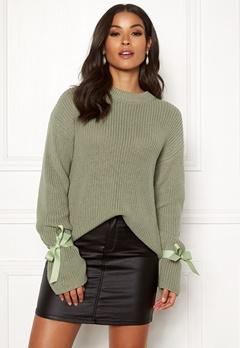 BUBBLEROOM Casey knitted sweater Dusty green Bubbleroom.eu