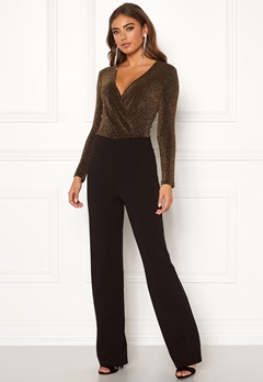 BUBBLEROOM Edalia sparkling top jumpsuit Black / Gold Bubbleroom.eu