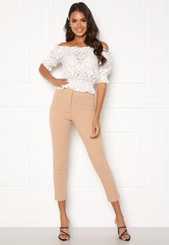 BUBBLEROOM Emilia belted trousers Camel Bubbleroom.eu