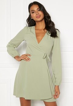 BUBBLEROOM Leila wrap dress Dusty green Bubbleroom.eu
