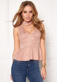 BUBBLEROOM Gossip suede top Dusty pink Bubbleroom.eu