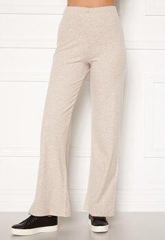 BUBBLEROOM Ilma rib wide trousers Beige melange Bubbleroom.eu