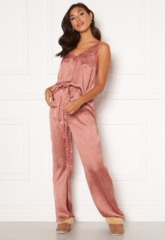 BUBBLEROOM Steph printed pyjama set Dusty pink / Dotted Bubbleroom.eu
