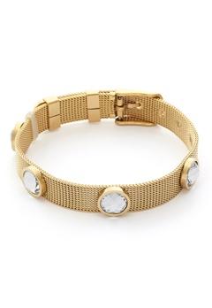 BY JOLIMA Adele Crystal Bracelet Crystal Gold Bubbleroom.eu
