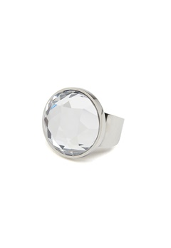 BY JOLIMA Holy Glam Ring Crystal Silver Bubbleroom.eu