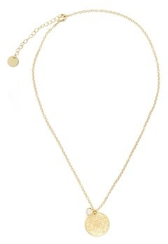 BY JOLIMA Spinn Crystal Necklace Gold Bubbleroom.eu