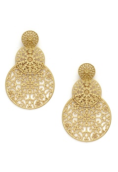 BY JOLIMA Spinn Triple Earring Gold Bubbleroom.eu