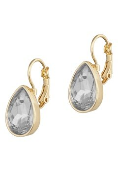 BY JOLIMA Tear Drop Earring Crystal Gold Bubbleroom.eu